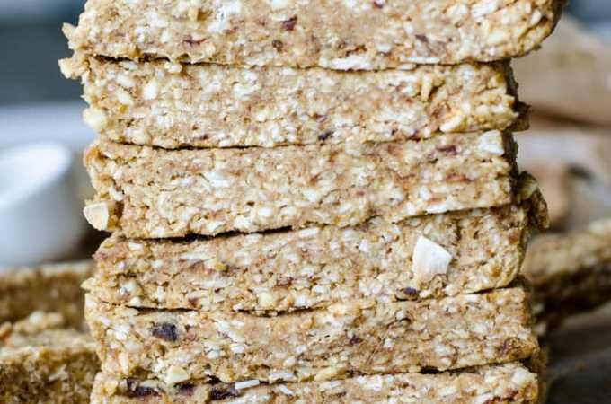 Vegan Coconut Banana Energy Bars | gluten-free, no-bake | Running on Real Food