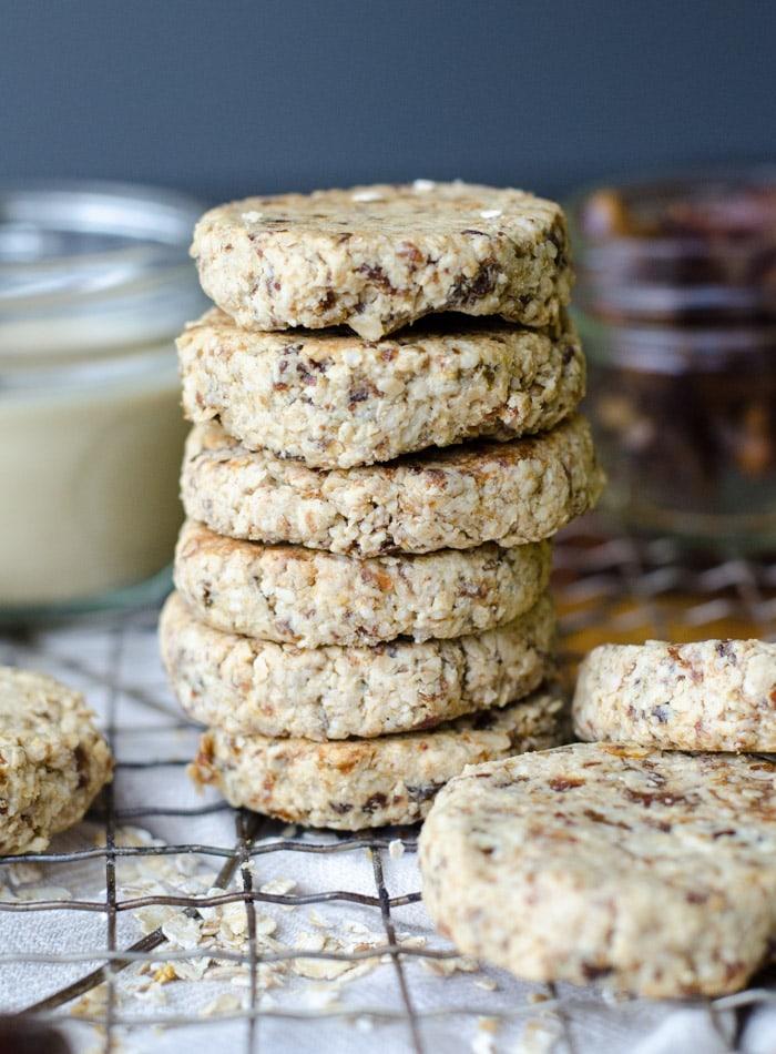 Vegan Tahini Date Cookies | just 3 ingredients, gluten-free, oil-free