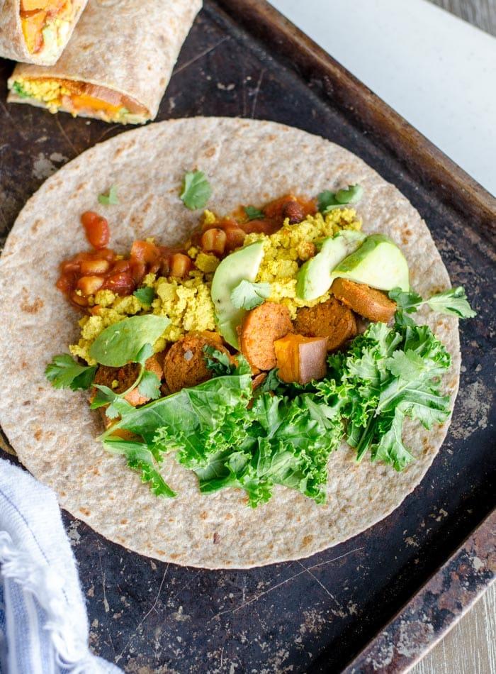 Vegan Sweet Potato Breakfast Burritos