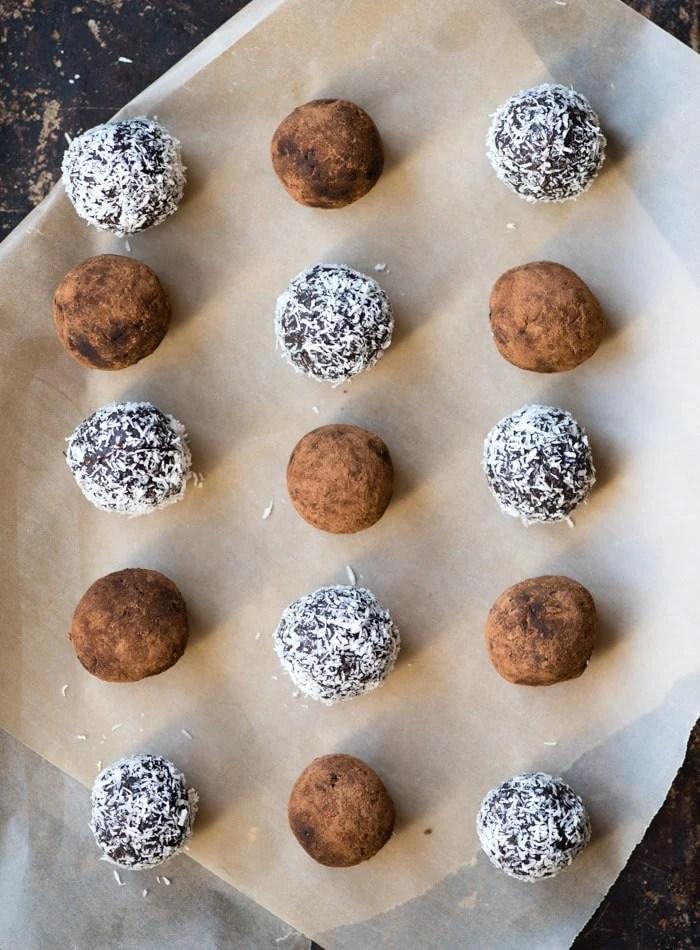 Vegan Rum Balls | gluten-free no-Bake | Running on Real Food