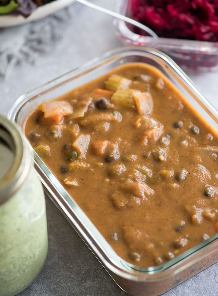 Vegan Meal Prep Ideas from Week 8 | black bean soup