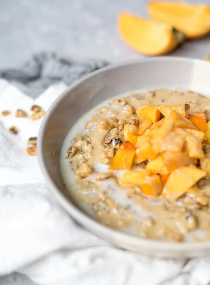 Healthy Chia Seed Oatmeal With Tahini and Walnut | Running on Real Food