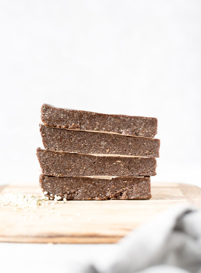 Nut-free gluten-free Vegan Chocolate Tahini Energy Bars