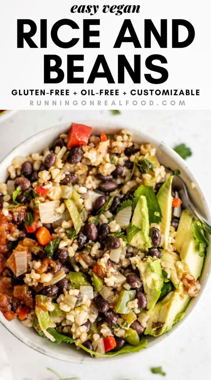 Easy Vegan Black Beans And Rice Running On Real Food