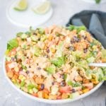 Healthy Vegan Quinoa Fiesta Salad with Chipotle Sauce