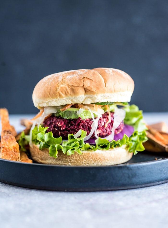 Healthy Beet Burger Recipe | Running on Real Food