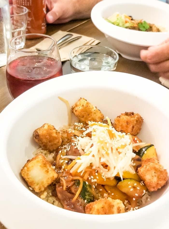 Miso Veggie Bowl at Grasshopper for Vegan Food in Toronto