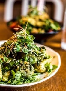 Korean Fried Broccoli at Live Organic Food Bar in Toronto.