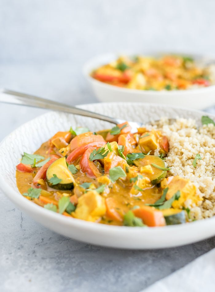 Creamy Vegan Panang Curry with Tofu | Running on Real Food