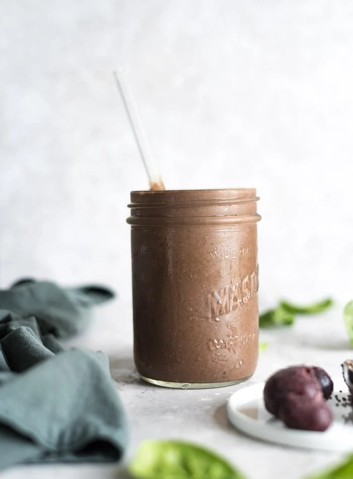 Healthy Chocolate Cherry Smoothie Recipe - Running on Real Food