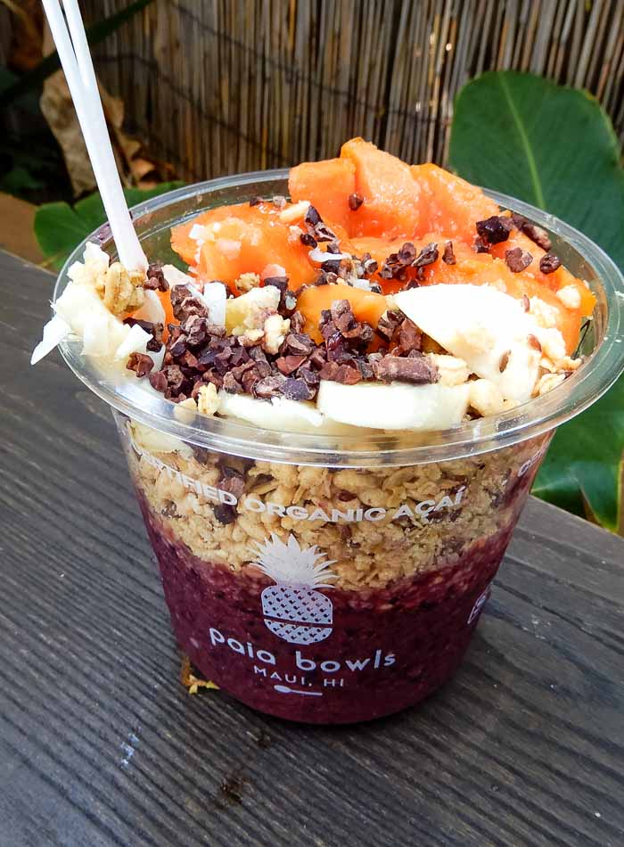 Vegan Acai Bowls at Paia in Maui - Running on Real Food