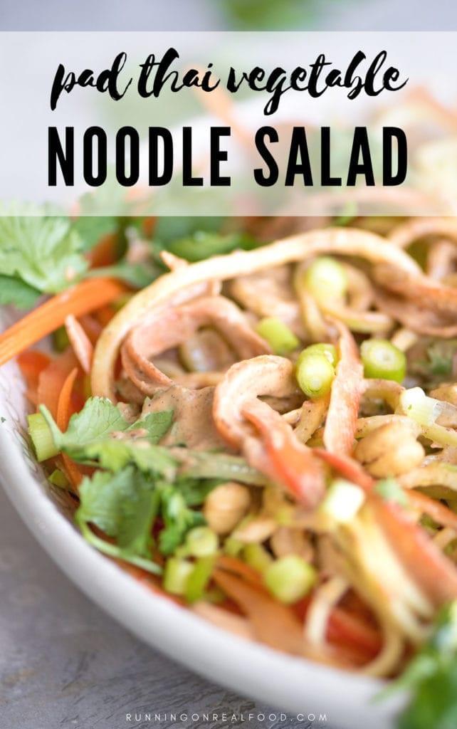 Vegan Pad Thai Vegetable Noodle Salad