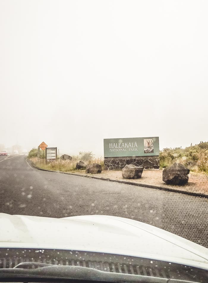 Driving up Haleakala Crater on Maui