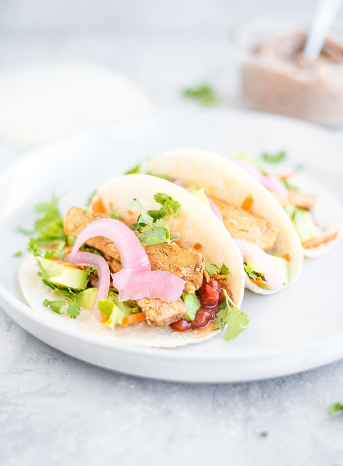 Easy Vegan Tacos with Tempeh - Running on Real Food