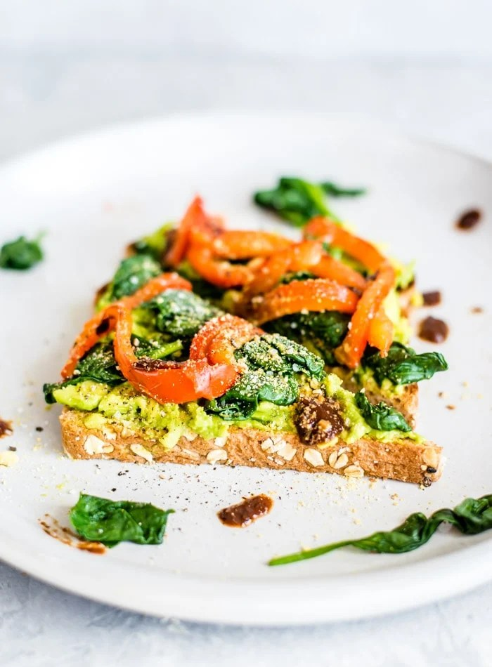 How to Make Spinach Avocado Toast - Running on Real Food