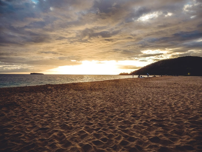 Sunset at Makena Beach on Maui - Running on Real Food
