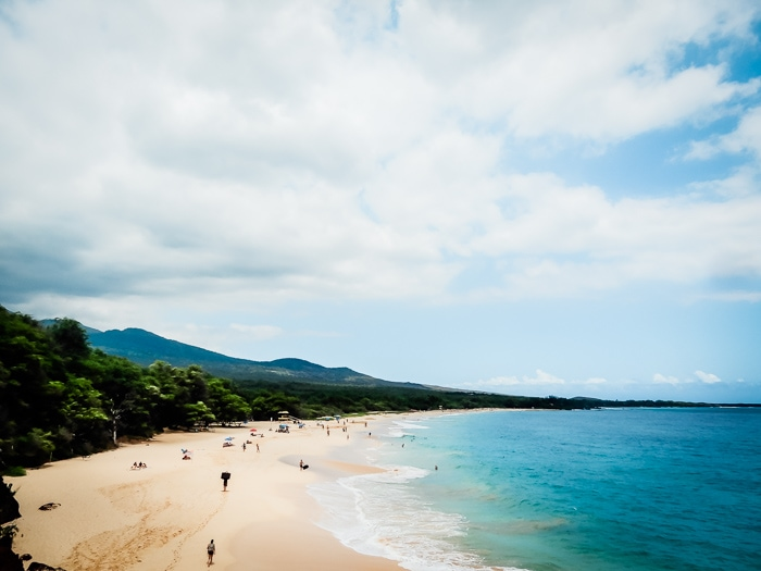 Big Beach in Makena State Park, Maui - Running on Real Food