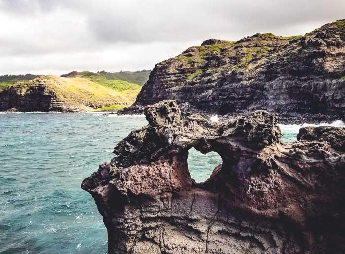 Heart Shaped Rock at Nakalele Point - Things to do on Maui - Running on Real Food