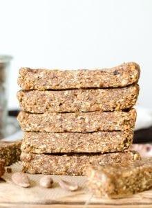 Vegan No-Bake Oatmeal Bars - Running on Real Food