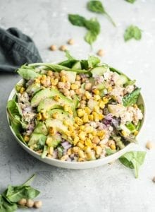 Healthy Vegan Avocado Corn Salad Recipe - Running on Real Food