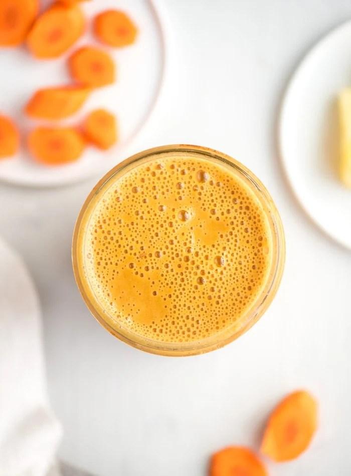 Vegan Carrot Smoothie Recipe - Running on Real Food