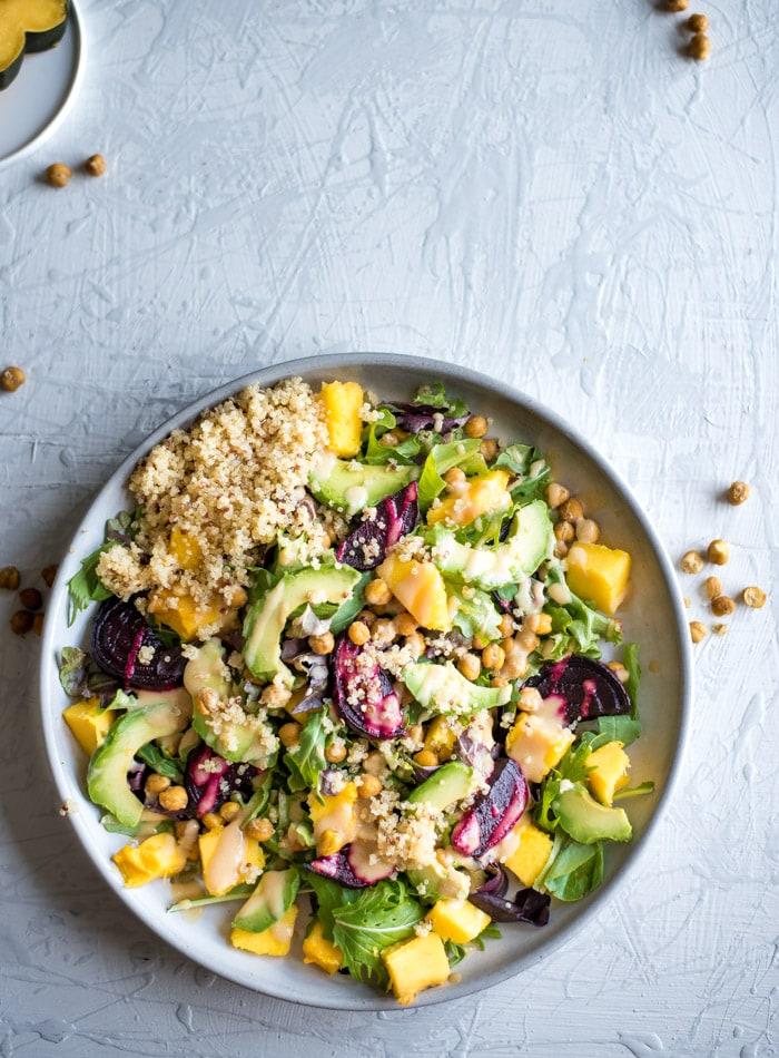 Roasted Beet Quinoa Salad - Running on Real Food