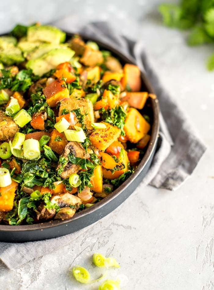 Sweet Potato Breakfast Hash with Tempeh - Running on Real Food