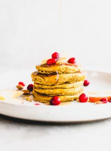 Healthy Vegan Gluten-Free Pumpkin Pancakes Recipe