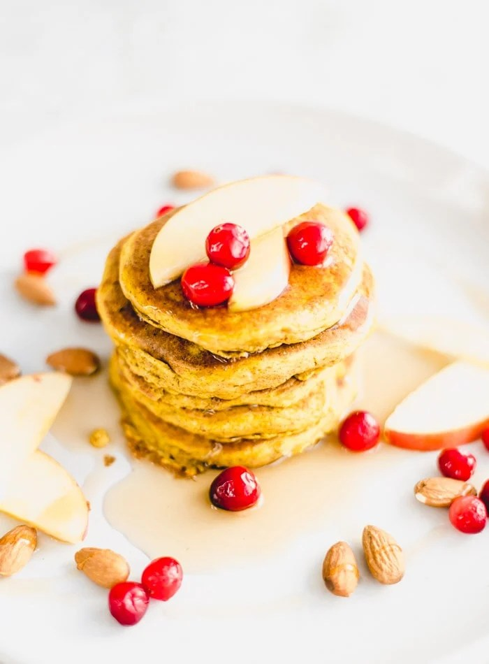 How to Make Gluten-Free Pumpkin Pancakes - Running on Real Food