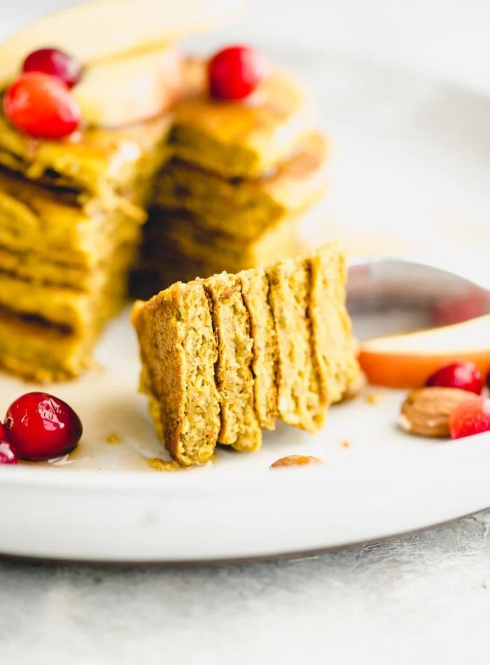 Gluten-Free Vegan Pumpkin Pancakes Running on Real Food