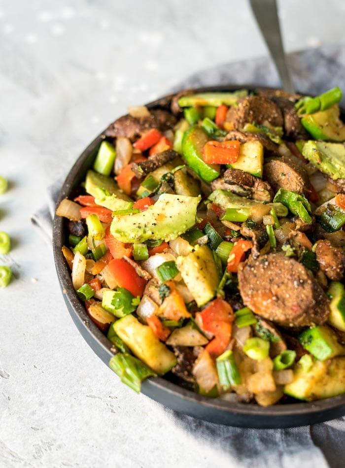 Easy Vegan Breakfast Skillet High Protein Running On Real Food