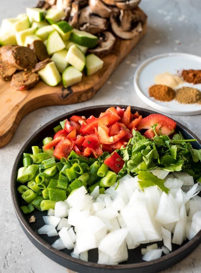 Vegan Breakfast Skillet Ingredients - Running on Real Food