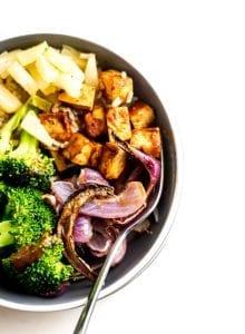 6-Ingredient Brown Rice BBQ Tofu Bowl - Running on Real Food