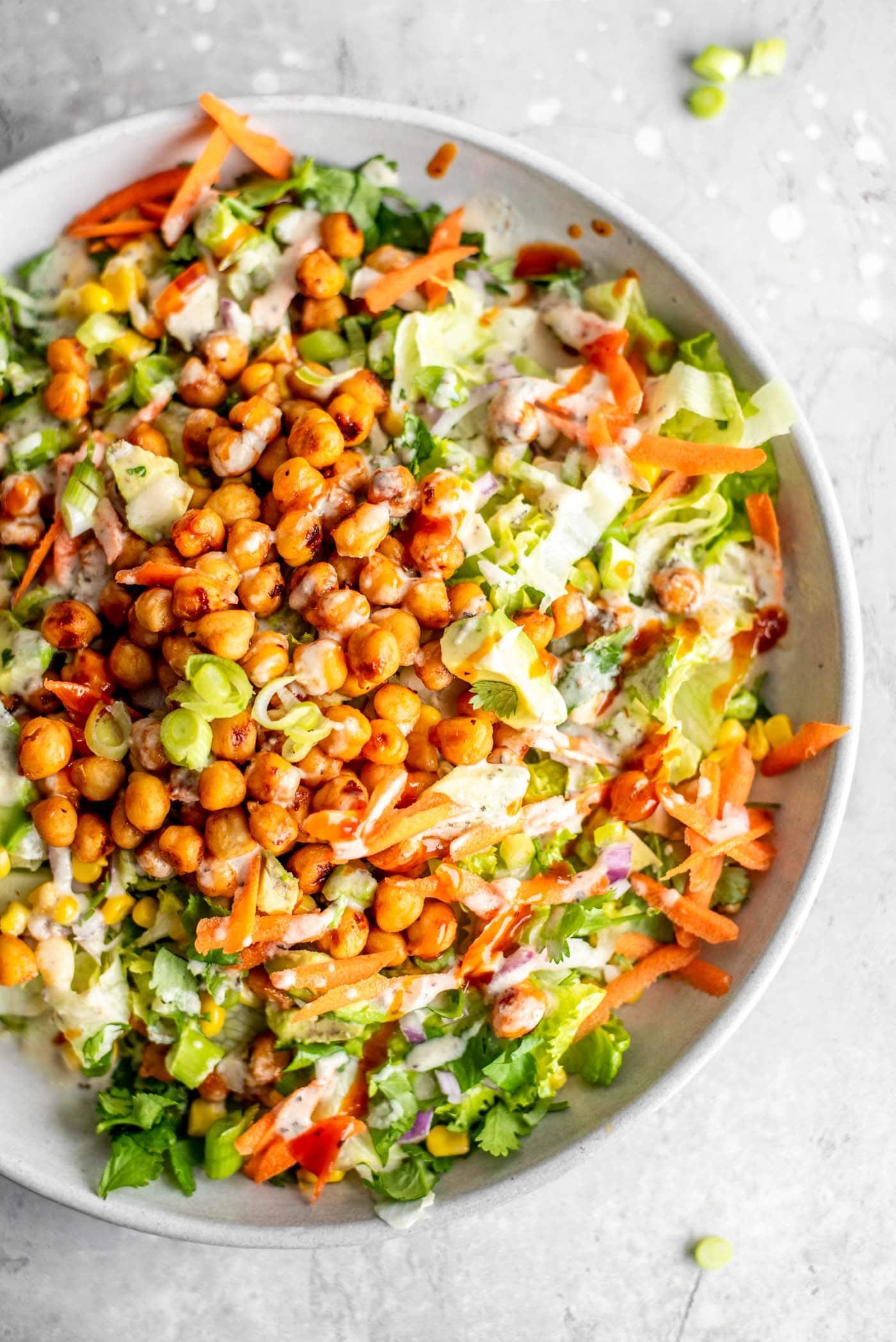 Vegan Bbq Chickpea Salad Vegan Running On Real Food