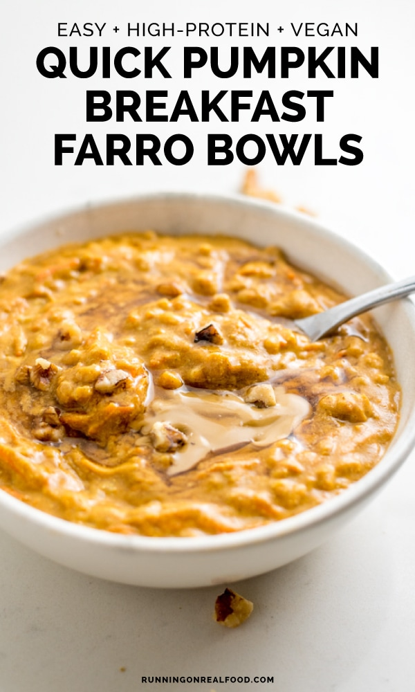 Quick Breakfast Pumpkin Farro Bowls