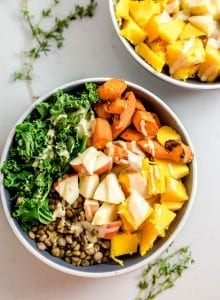 Healthy Vegan Fall Harvest Bowl - Running on Real Food Recipes