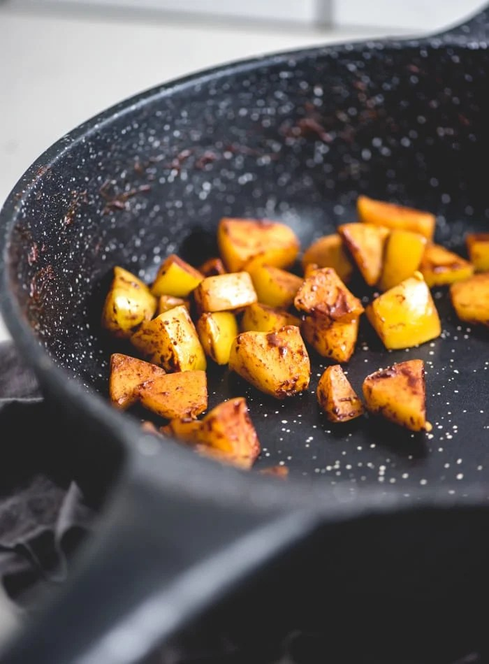 How to Make Cinnamon Sautéed Apples - Running on Real Food