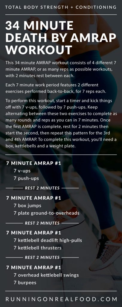 34 Minute Death by AMRAP Workout - Running on Real Food Workouts