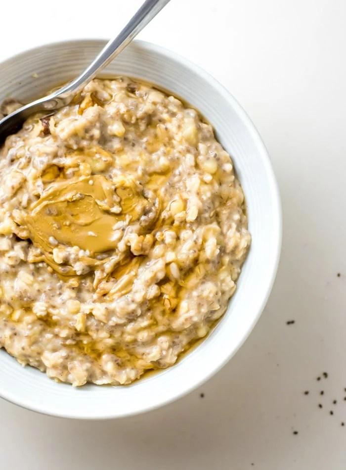 Easy Creamy Banana Oatmeal Recipe - Running on Real Food