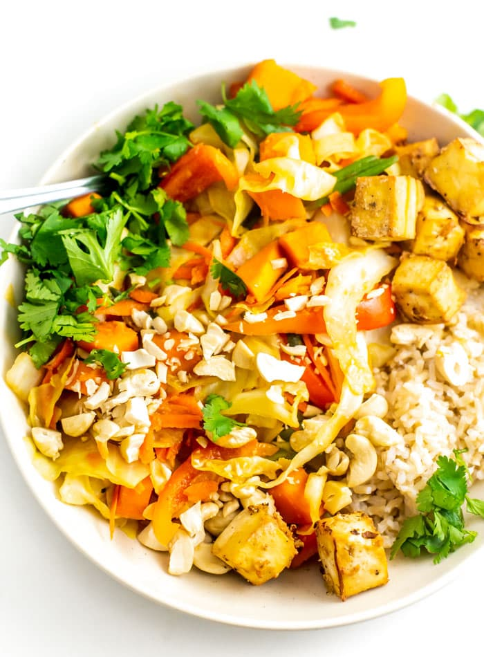 Sweet Potato Cabbage Cashew Stir Fry Vegan Running On Real Food