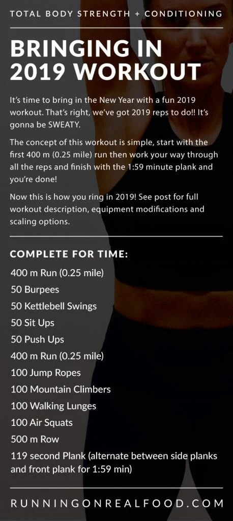 Bringing in 2019 Workout - Running on Real Food Workouts