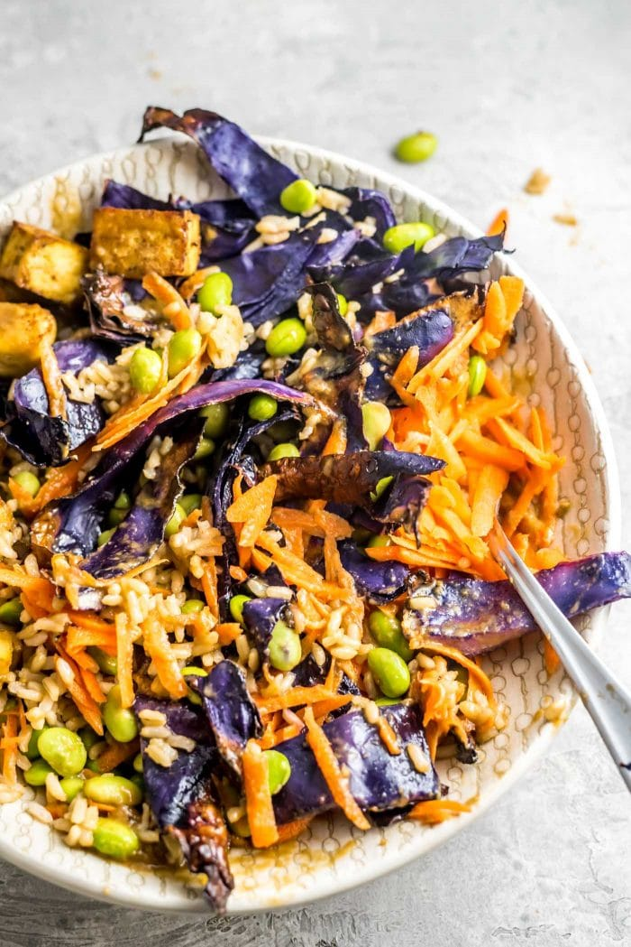 Vegan Buddha Bowls with Tofu and Edamame - Running on Real Food