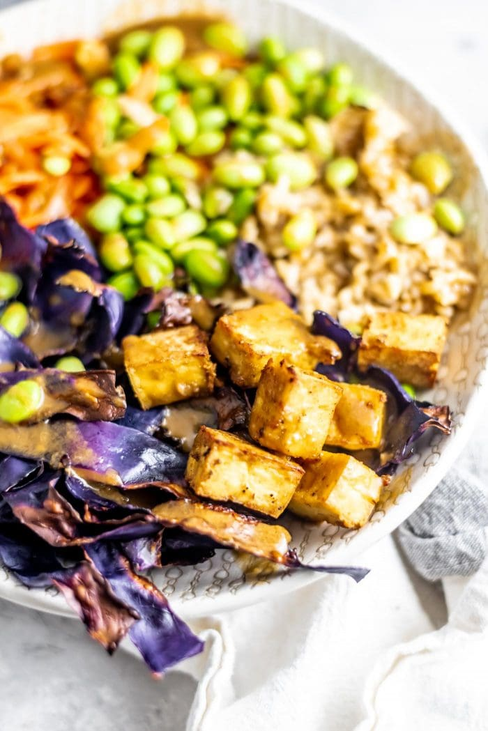 How to Make Vegan Buddha Bowls with Almond Satay Sauce