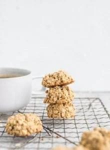 Healthy Easy Vegan 3-Ingredient Oatmeal Cookies Recipe - Running on Real Food