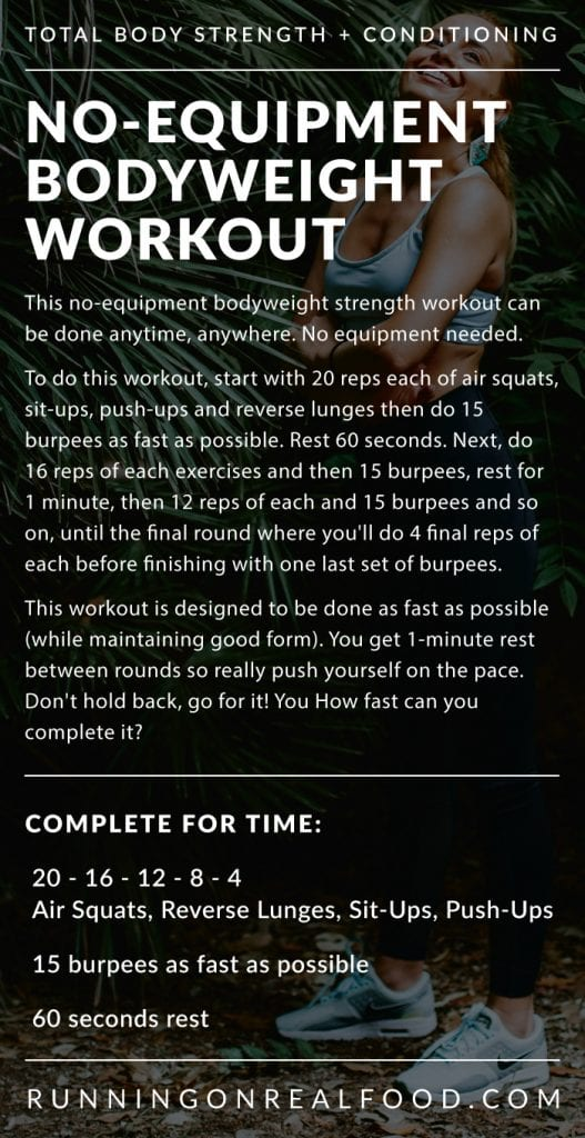 No-Equipment Bodyweight Workout from Running on Real Food