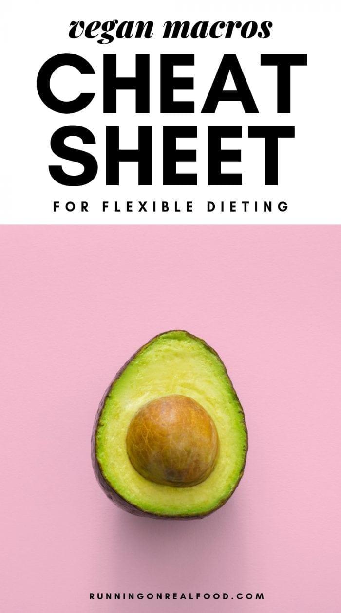 Vegan macros cheat sheet for flexible dieting.