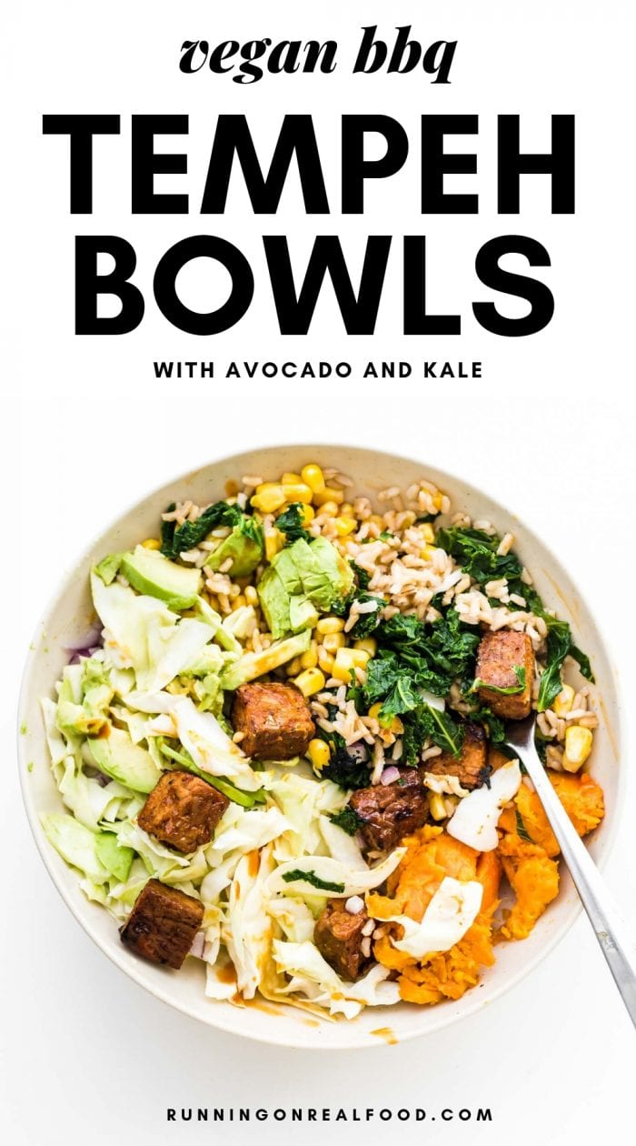 BBQ Tempeh Bowls Pinterest Image
