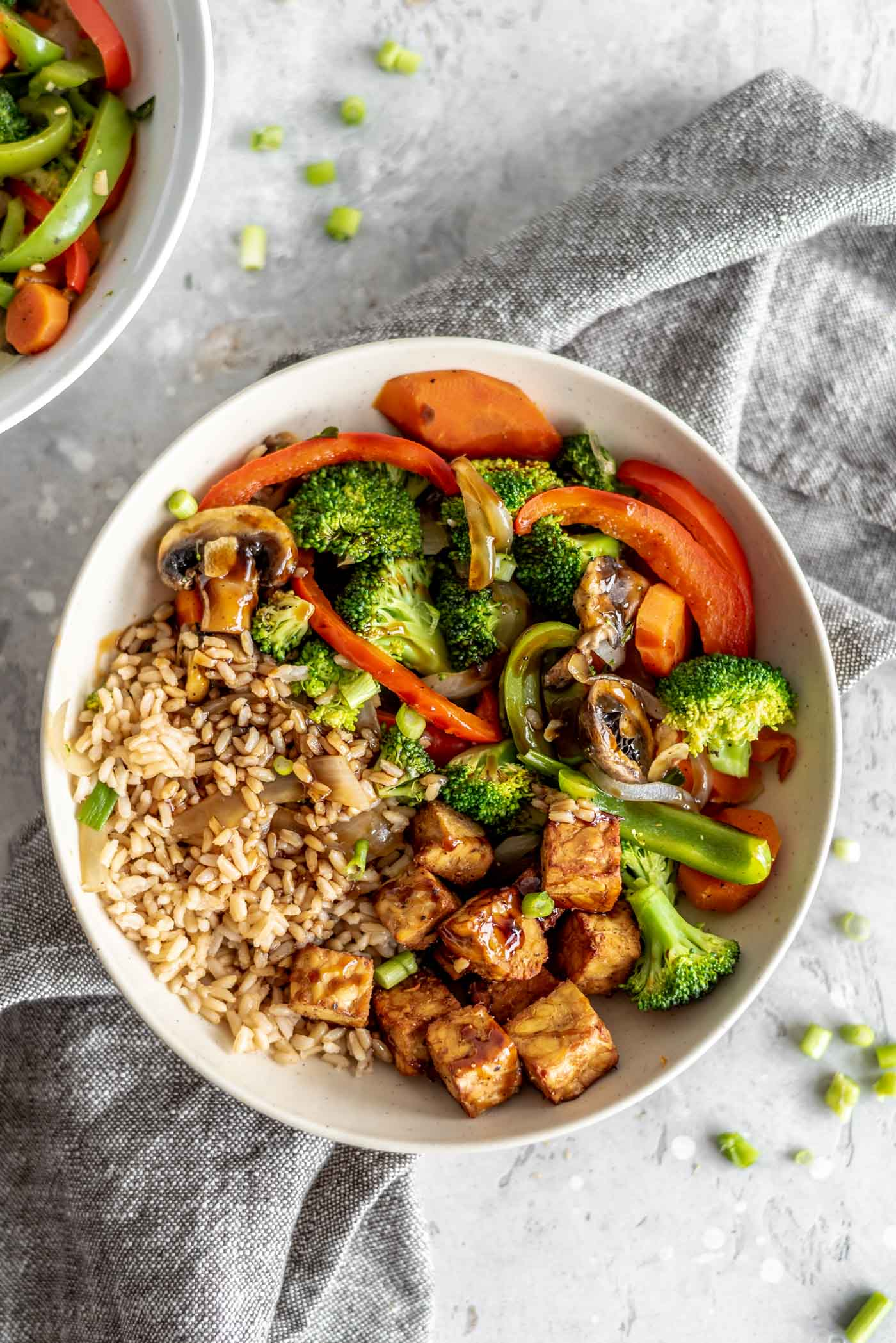Veggie Stir Fry With Tempeh And Rice Running On Real Food