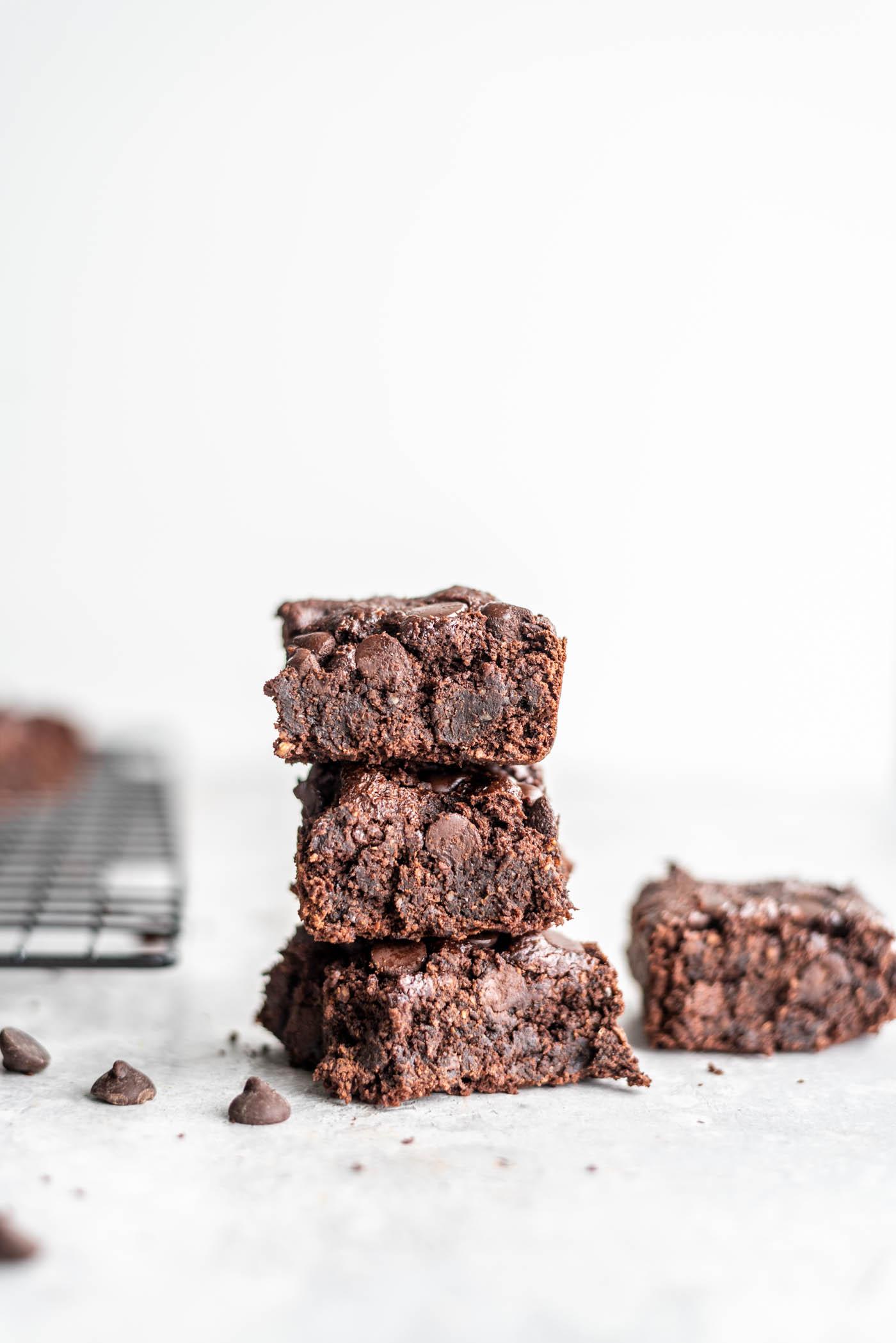 Vegan Oat Flour Brownies Running On Real Food