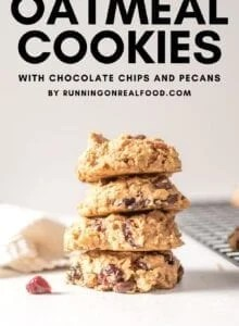 Pinterest image for cranberry orange cookies with a text overlay.